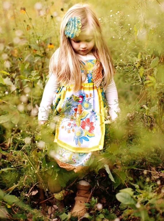 <3 love: Little Girls, Child Dresses, Folk, Aprons, Wee Sweet, Mama Girls, Fabrics Ridge, Photo, Knot Dresses