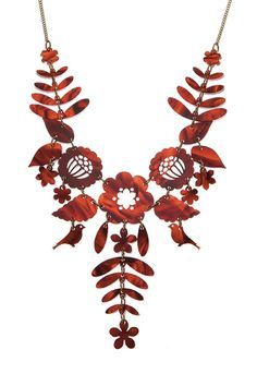 Mexican Embroidery Necklace - Tortoiseshell £95 - AW13 Sky Lab