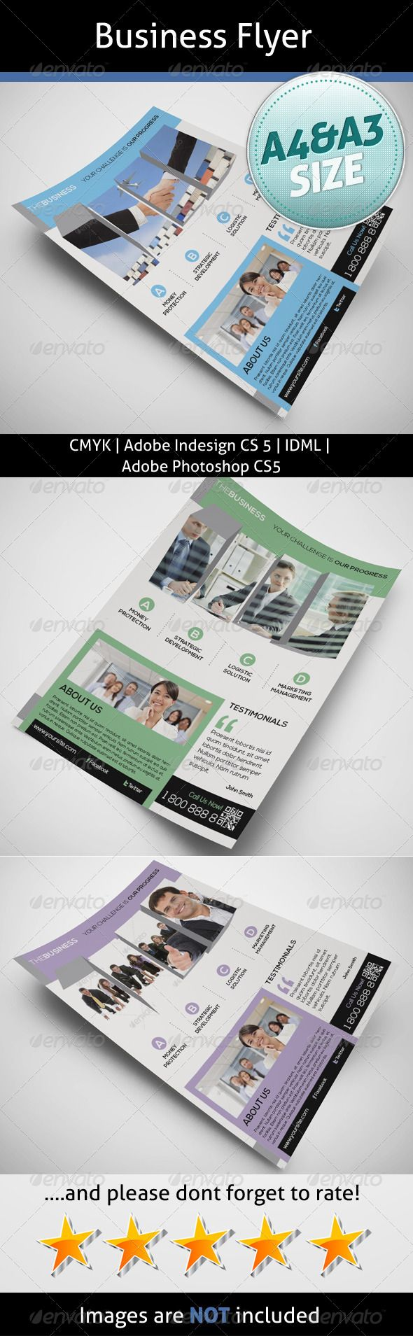 Business Flyer  #GraphicRiver         A4 8.2677×11.6929  	 A3 11.6929×16.5354  	 Bleed 5 mm  	 InDesign CS5  	 Idml  	 Photoshop CS5  	 300dpi  	 CMYK  	 Nexa:  .fontsquirrel /fonts/nexa  	 Info file included  	 Images are not included  	 If you need any help with your purchase please contact me  	 Photo credit:  photodune /item/portrait-of-businesswoman-holding-her-tablet-computer-and-commun/4800312?WT.ac=category_thumb&WT.seg_1=category_thumb&WT.z_author=HASLOO photodune…