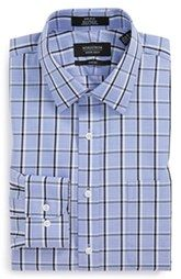 Nordstrom Trim Fit Non-Iron Plaid Dress Shirt (Online Only)