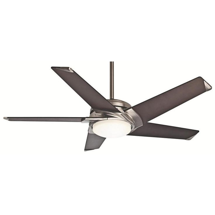 Awesome Casablanca inch Stealth DC Brushed Nickel Ceiling Fan Overstock Shopping Great Deals