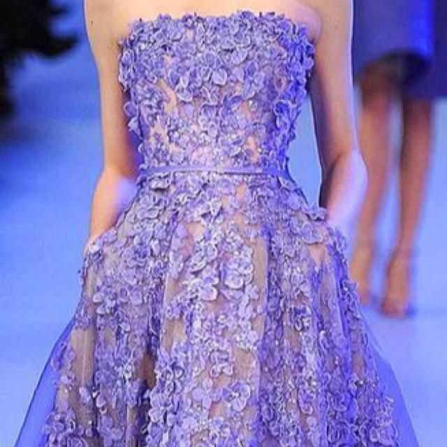 Purple spring dress  on Everdrobe - Always know what to wear