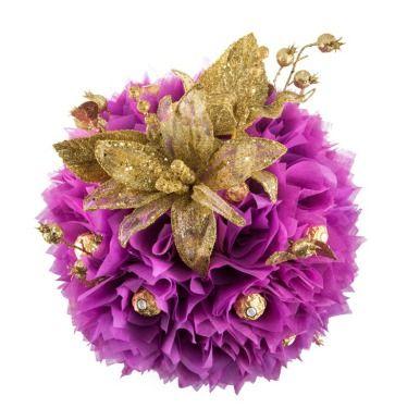 Hand made Chocolate flower Bouquets I chocolate gift creations I thechocolateflorist.co.uk - purple glory