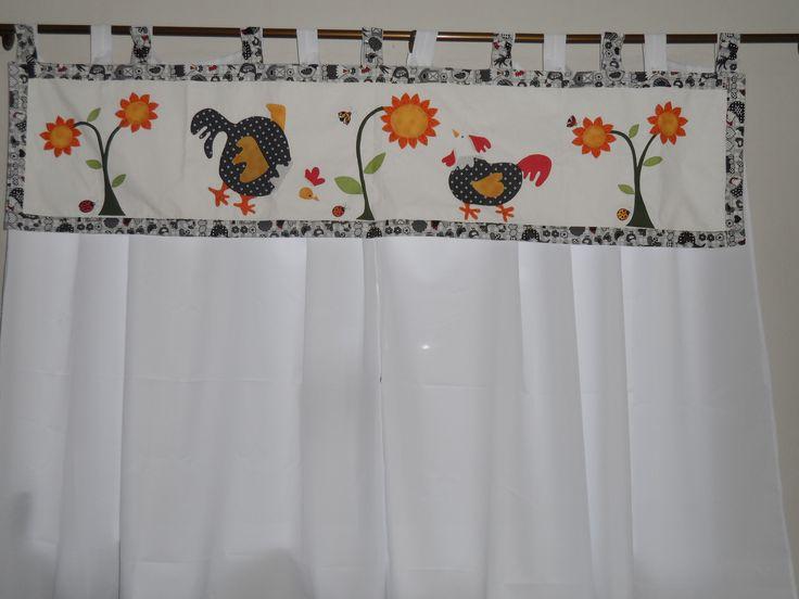 Bando e cortina galinhas na cozinha!!!  Minhas obras  Pinterest