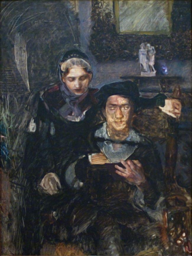«Гамлет и Офелия», 1884 (до болезни)Михаила Врубеля
