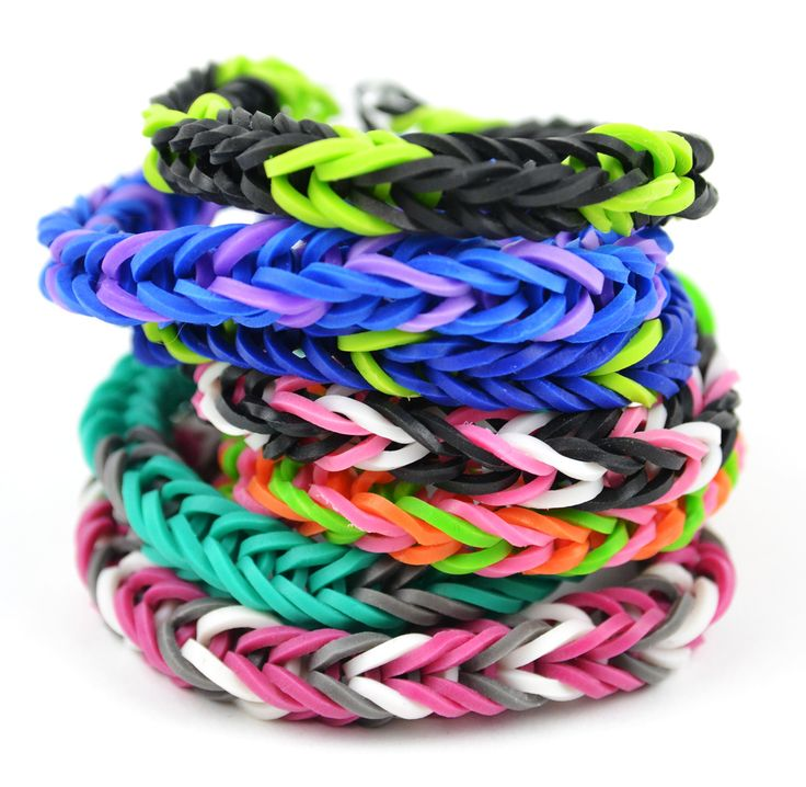 Loom Band Bracelets from CFF Store!  Get the bands here: http://www.craftsfeathersfloral.com/home/cff/smartlist_1295/loom_bands.html  More styles coming soon! #loombands #loom #diy #crafty