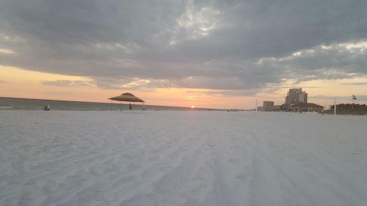 The beautiful sugar sand beach of Sandestin beach resort.