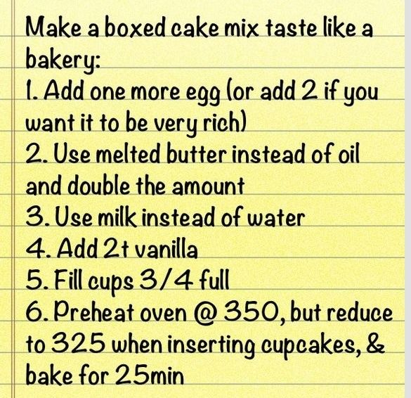 Make A Boxed Cake Taste Like Bakery The Best Addition Instead Small Box