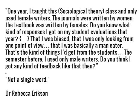 Male as the default. Now substitute black writers (professor accused of bias? Yep!) and white writers (happens all the time). White is the default.