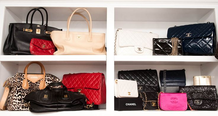 Kyle Richards Closet full of Designer Bags