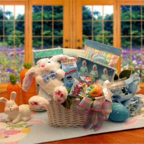 Bunny Fun Easter Gift Basket -Blue