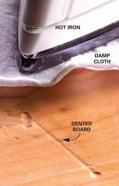 27 Instant Fixes For Nagging Problems Around the House. Tip #21: Iron Out Dents and Scratches - Get all the tips: http://www.familyhandyman.com/smart-homeowner/diy-home-improvement/instant-fixes-for-nagging-problems-around-the-house