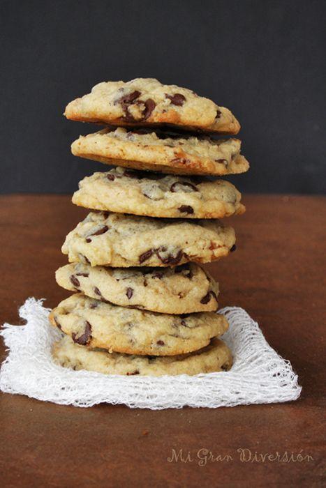 Cookies con chocolate y nueces (hornear en el momento porque si no la masa se pone dura)
