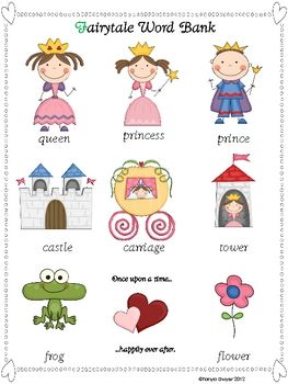Fairy tale word wall freebie