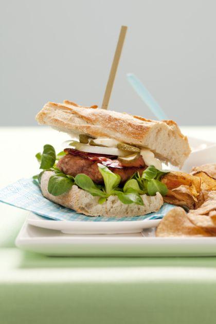 Recept voor kipburgers met bacon
