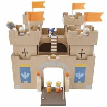Groot houten fort of kasteel bij speelgoed Kiki
