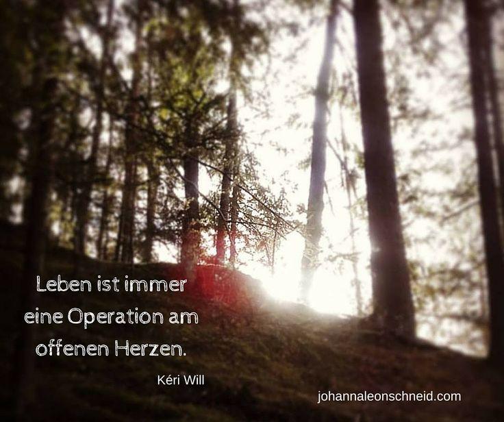 Leben ist immer eine Operation am offenen Herzen.