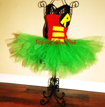 Batman or Robin costume fluffy tutu by Victoriacouturepink on Etsy