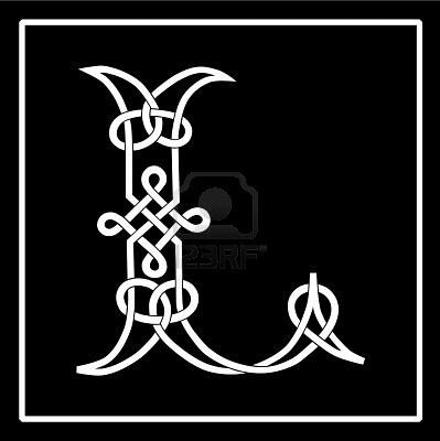 L Celtic knot-work letter