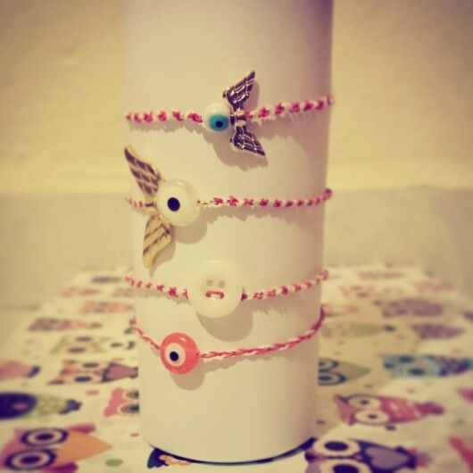 #march #bracelets #red&white