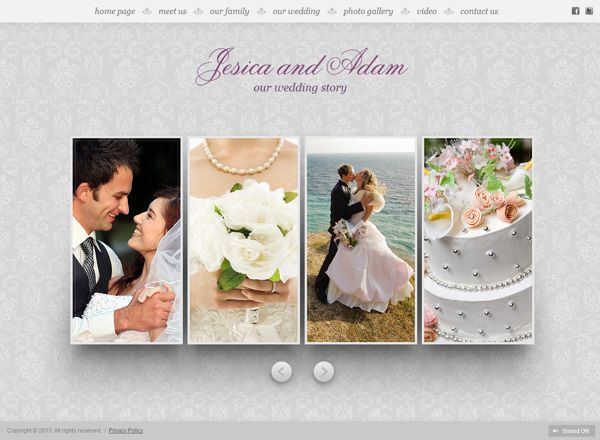 My Wedding HTML5 Template by Dynamic Template