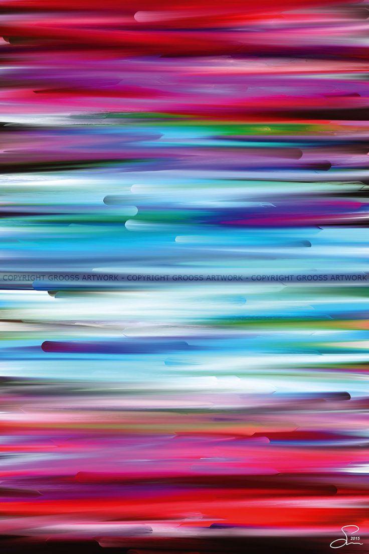 New worlds ''One'' - 40 X 60 cm - Grafisk kunst på lærred af Søren Grooss