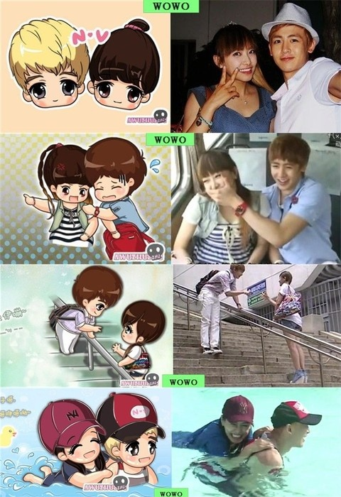 2 years late...but I finally finished their We Got Married.  The end is so heartbreaking.  T^T Khuntoria