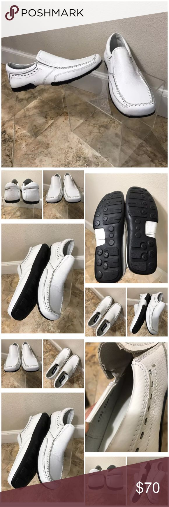 c9e0bb4e Ferrato men's slip ons Loafers shoes size 9 Ferrato white leather men's  shoes size 9 ferrato