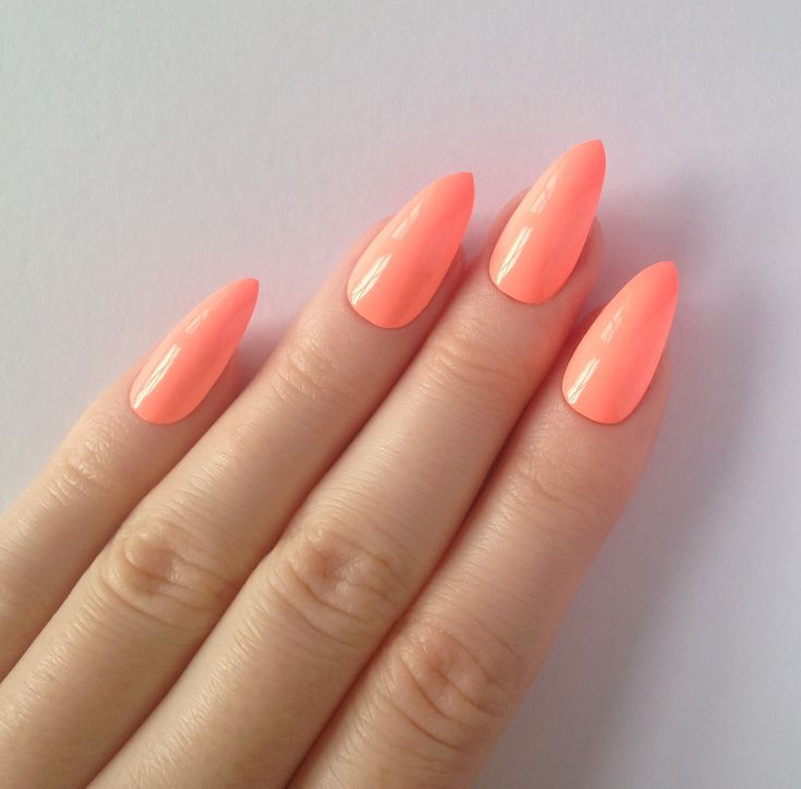 neon hot pink acrylic nails - google