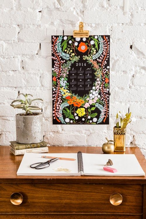 The House That Lars Built.: 2014 Language of Flowers calendar & DIY