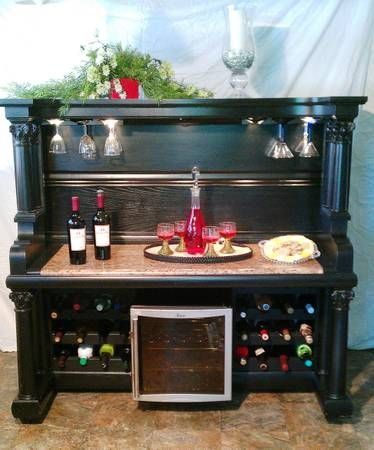 old piano into a wine bar * this is the coolest idea, but heavy as mofo**