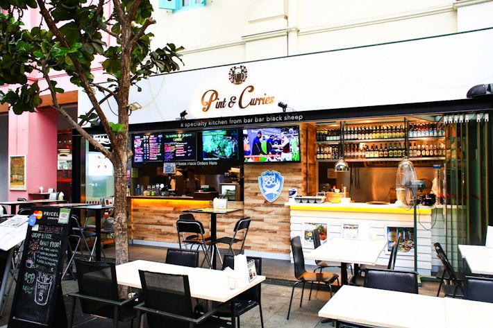 Pint & Curries, same management as Bar Bar Black Sheep. Located in Clarke Quay.
