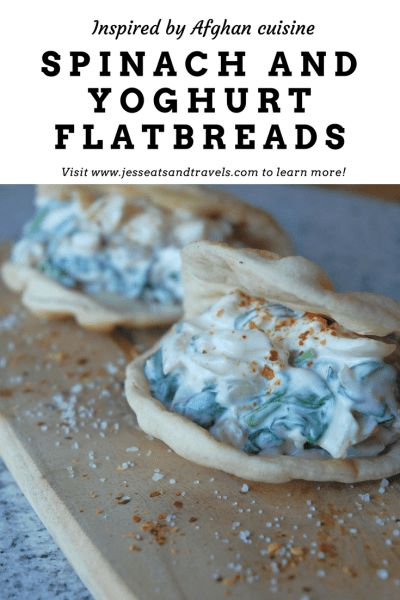 Spinach and yoghurt flatbreads