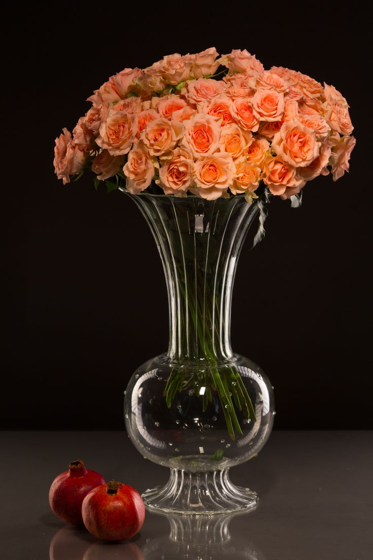 Beautiful, grandiose glass vase for your special event / wedding. Handmade glassware, international shipping!