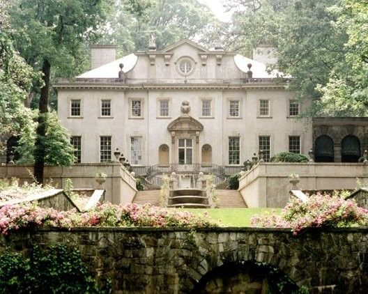 Swan House was built in 1928 for Edward and Emily Inman in Atlanta, Georgia. The Inmans had accumulated wealth from cotton brokerage and investments on transportation. The Atlanta architectural firm of Hentz, Reid, and Adler was commissioned to design a new house on 28 acres in Buckhead. The new mansion's design combined Renaissance revival styles with a Classical approach on the main facade. A recurring motif is sculpted and painted swans throughout the house and grounds.