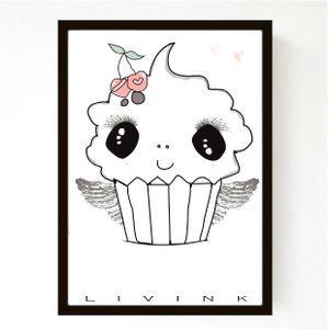 50 x 70 Cm - Cupcake - TILBUD - SPAR 199,-