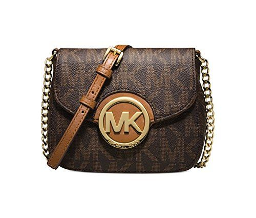 MICHAEL Michael Kors Fulton Small Crossbody-Brown Logo-Go-$239.99