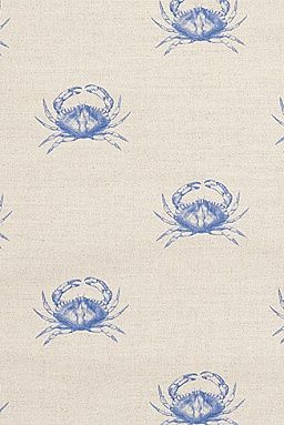 Cornish Mud Crab Fabric - Emily Bond