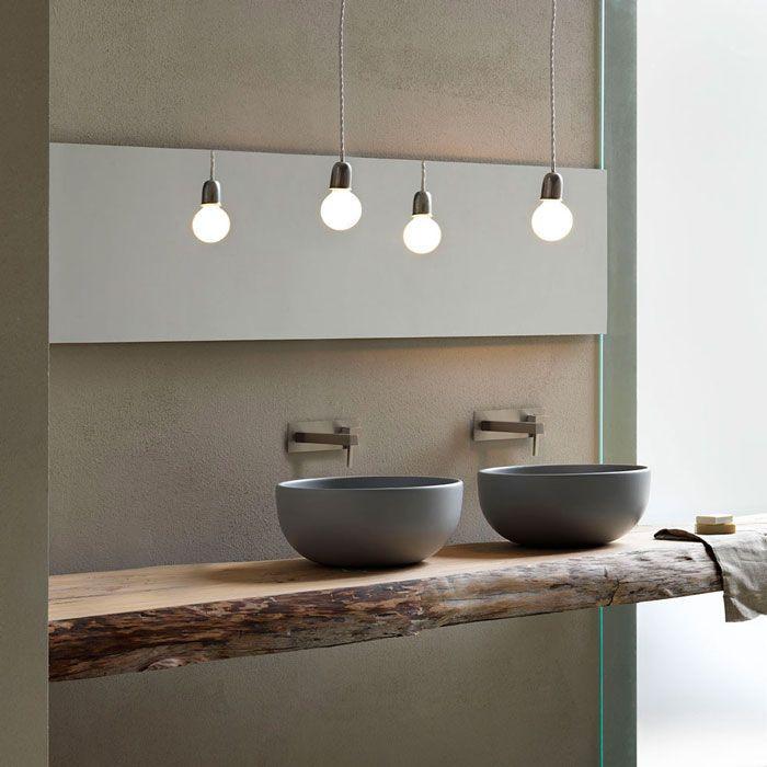 Houten blad met waskom Shui van Cielo via Luca Sanitair #badkamer # ...