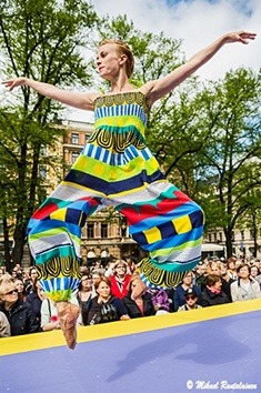 Jump! The Finnish National Ballet knows how to get the party started at the Marimekko 2013 Summer Fashion Show.
