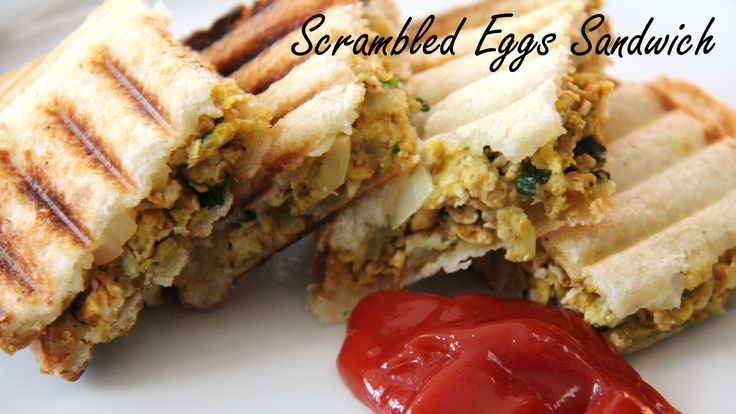 Scrambled Egg Sandwich Recipe |Easy Healthy Breakfast & Kid's Lunch Box Recipes By Shilpi