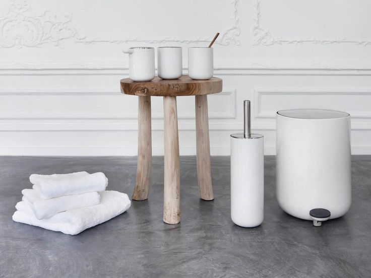 Firmly rooted in Scandinavian design tradition, the Menu Bathroom Set features light, uniform lines and rounded bases. With functional and stylish details all around, this series is both hygienic and user-friendly.