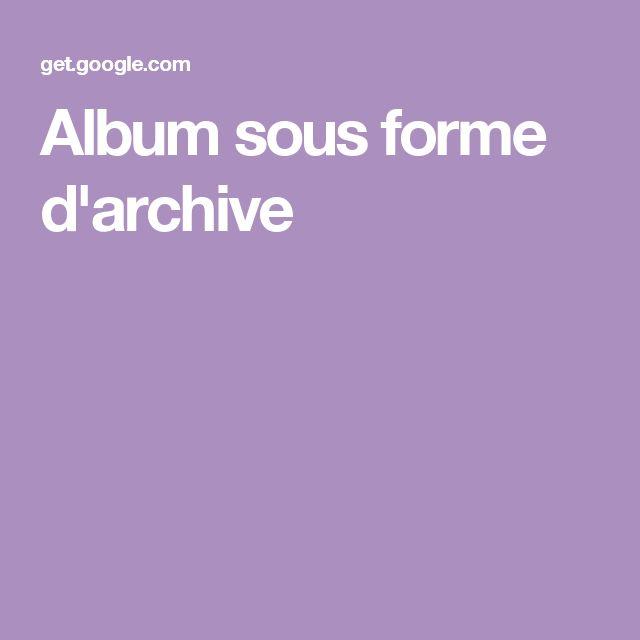 Album sous forme d'archive