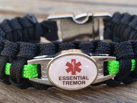 Medical ID Essential Tremor Paracord Bracelet