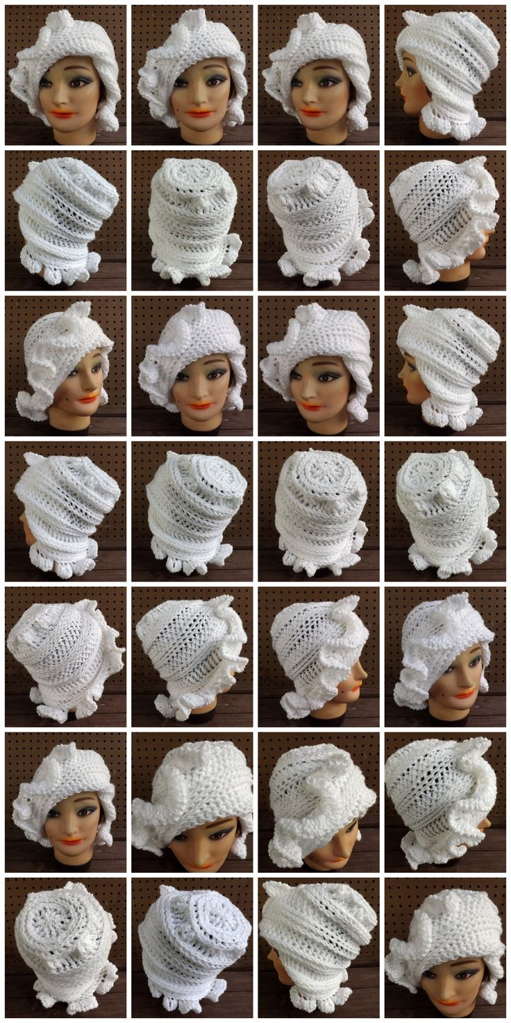 http://www.etsy.com/listing/175367425/unique-crochet-hats-for-women-slouchy?ref=shop_home_active_2 CYNTHIA Crochet Ruffle beanie Hat in White