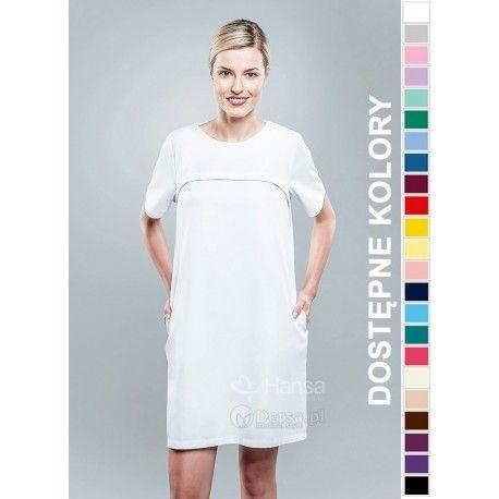 Sukienka Medyczna Hansa 0212 | Odzież damska | Dla lekarzy, farmaceutek i pielęgniarek. | Sklep internetowy Dersa |