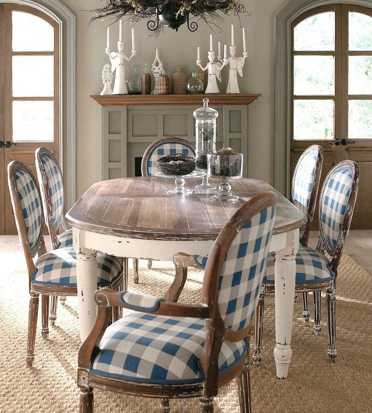 11 Blue Checkered Things Dining Room Farmhouse Dining