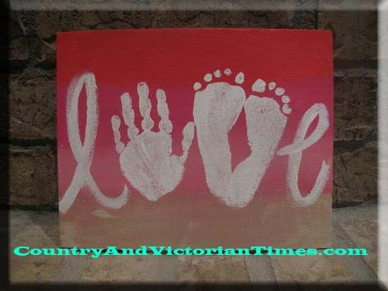 love canvas-did this january of 2014 for all of the grandma's valentine's day presents. turned out great!
