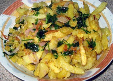 Ποντιακές τηγανητές πατάτες