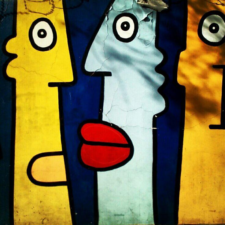 Mural en Barrio Lastarria. Santiago de Chile #streetart
